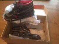 """Ladies Kickers """"Kick Hi"""" Patent Black Boots Size 6 (New In Box)"""