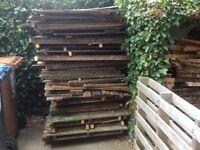 Wood for burning. an 8 x 6 shed, dismantled and cut into transportable pieces.