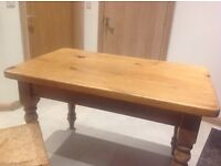 Reclaimed stunning pine table with 4 chairs