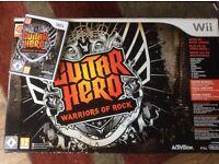 Guitar hero Warriors of Rock bundle for Nintendo Wii