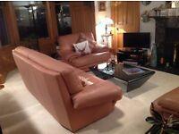 Beautiful Italian Leather 3 piece suite