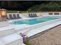 France farmhouse with pool and forest for holiday lets. Sleeps up to 10.