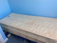 Single bed & mattress 2'6""