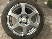 "15"" alloy fox wheels ford fitments escort rs fiesta ? With tyres good condition"