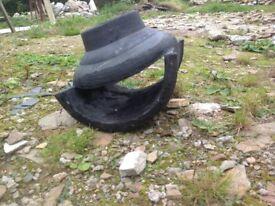Black concrete chimney pot
