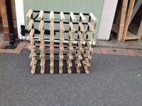 Wooden Wine Rack, stores 36 bottles - Freestanding.
