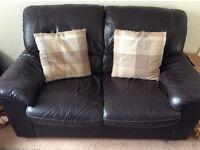 Chocolate brown sofas