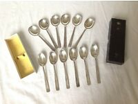Silver plated spoons