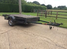 Trailer. Caged sides. Plywood lid. 7ft x 6ft. Unbraked. Lights. New wheels and tyres