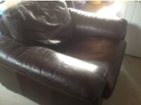 Free leather chair. Good quality but seat scratched. Ex John Lewis.