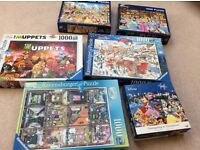Jigsaw puzzles. 6 boxes all 1000 pieces, 1 box of 500 pieces