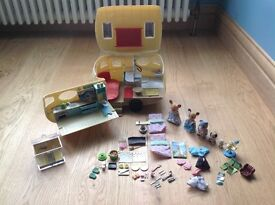 Sylvanian Families Caravan with All Accessories and Family