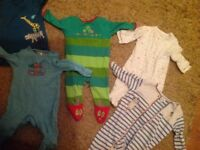 Baby boy clothes 0-3 and some newborn/up to 1 month