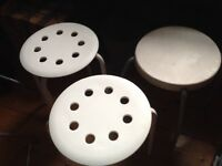 3 Ikea stools