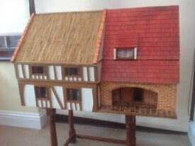 Dolls house, hand made, complete with furniture