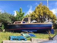 Boat for sale, perfect inboard Saab engine, various extras.