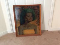 Picture in wooden frame