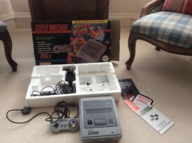 Boxed Super Nintendo Street Fighter 2 pack (game missing)