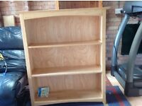 Bookcase bookshelf in light oak