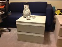 2 x Grey Upcycled Bedside Drawer Units