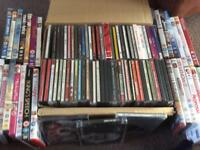 Mixed lot of CDs and DVDs