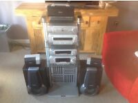 TECHNICS SL-DV170 Classic Stereo System 5 Disc 2 Cassette