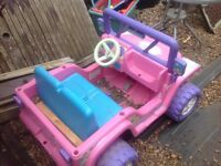 Kids pink jeep