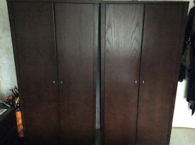 2 X MFI Java dark wardrobes