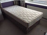 Single bed with new mattress and headboard