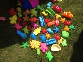 Wide selection of beach toys