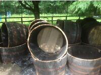 Half Whisky Barrels for sale