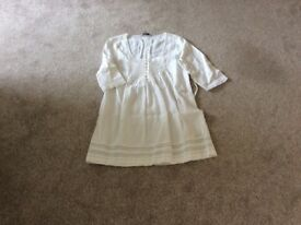 White linen dress. Crew clothing