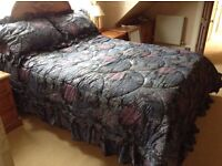Designer Duvet set. Never used/as new.Very special.Bedspread also filled.Plus table cover to match