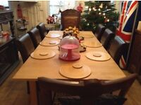 Solid wood Oak/Pine Dining Table