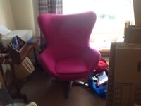Shocking Pink Egg Chair