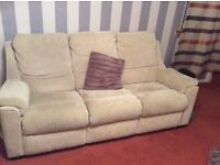 Parker Knoll Beige 3 seater Sofa