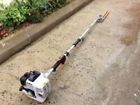 Long reach hedgecutter for trimming high hedges with a max reach of 4m & 16 inch blade. Great order