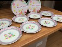 Reduced price 8 shabby chic rose patterened fine china side/tea plates. New still boxed