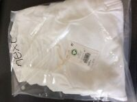 Brand new NEXT Baby vests x 5 white. Sealed with tags