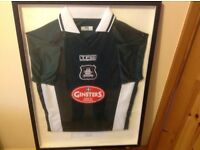 plymouth Argyle 2003/04 signed and framed football shirt
