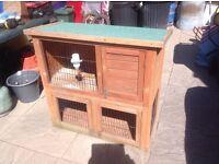 3ft double rabbit hutch