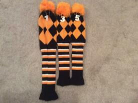 Knitted pompom headcovers
