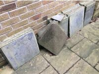 Hardrow Concrete tiles unused green blend