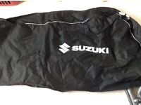 Motorbike black Suzuki dust cover