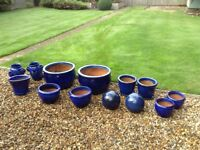 13 Pots in total, absolute bargain! Clay planters, lovely set to change the look of your garden.