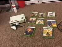 Xbox 360 Premium + wireless adaptor and games in great condition!