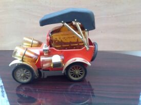 Model T Ford music box decanter