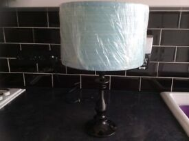 Duck Egg Blue Shade Table Lamp PAIGNTON