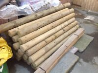 ,5ft treated wooden post for sale