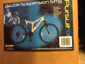 26in Double Suspension Mountain Bike brand new & boxed.Pursuit Spark